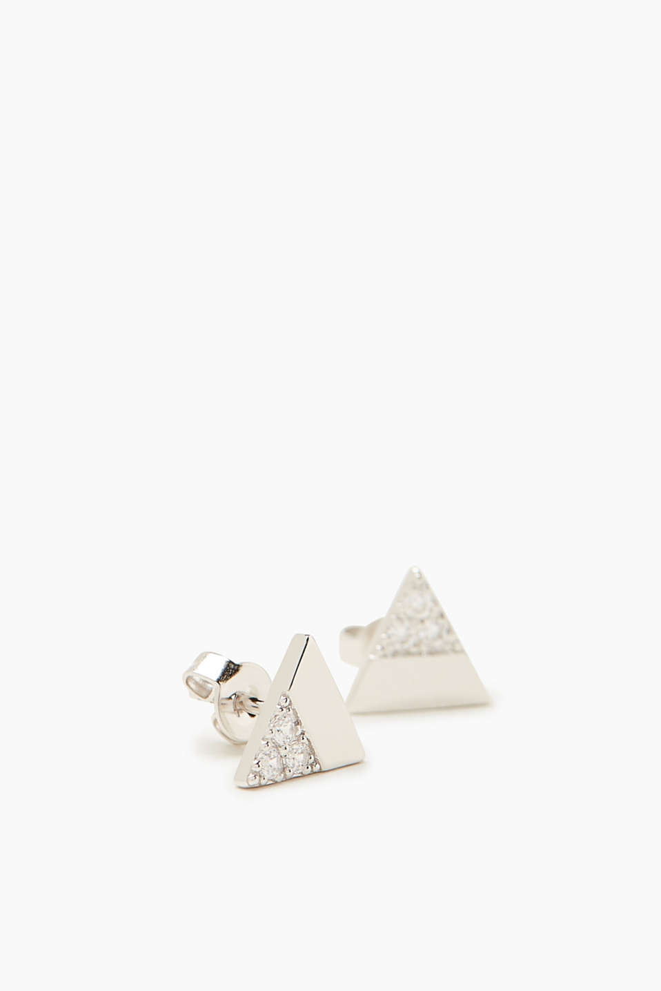 Esprit - Stud earrings in sterling silver with zirconia