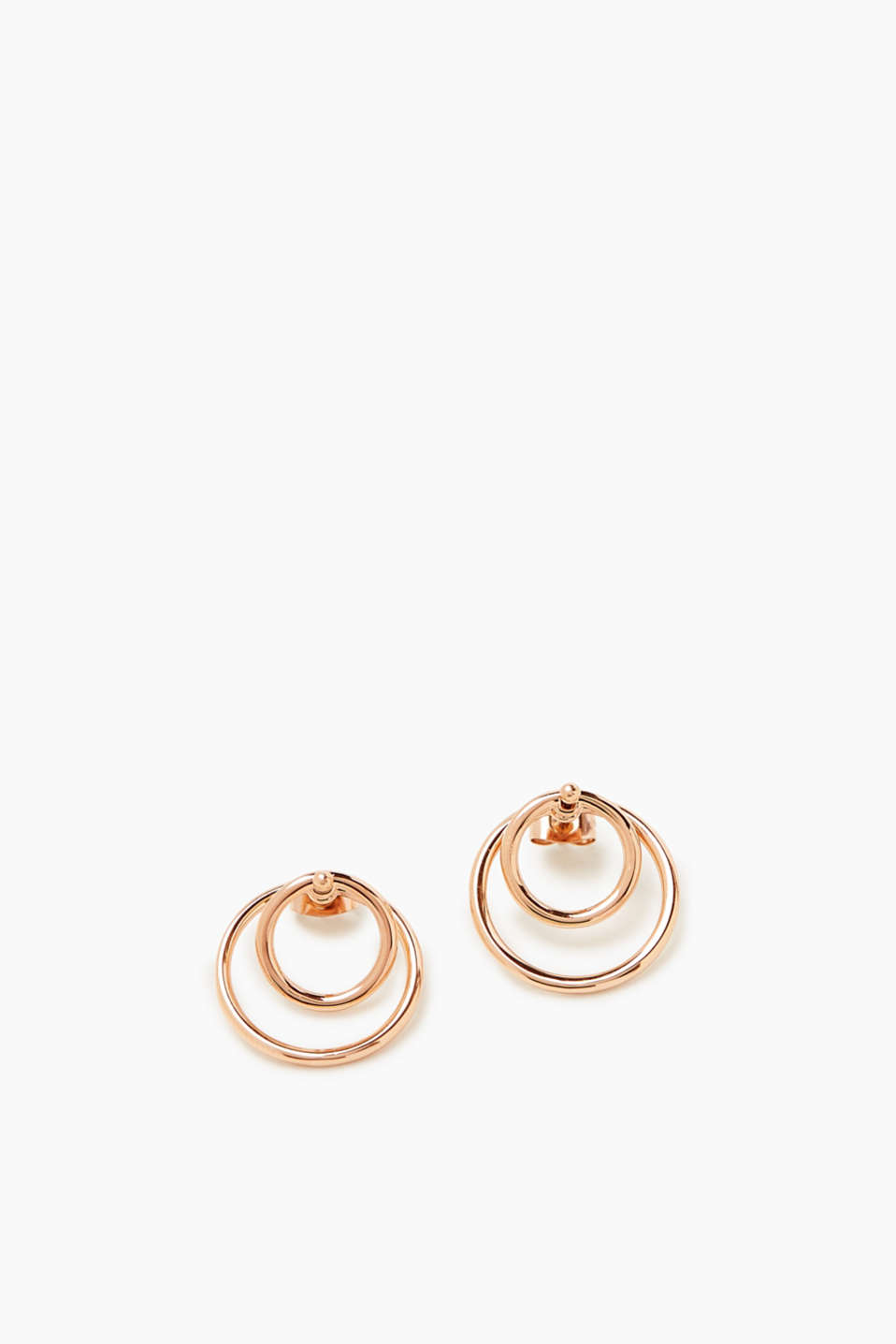Esprit - Fine rose gold stainless steel earrings