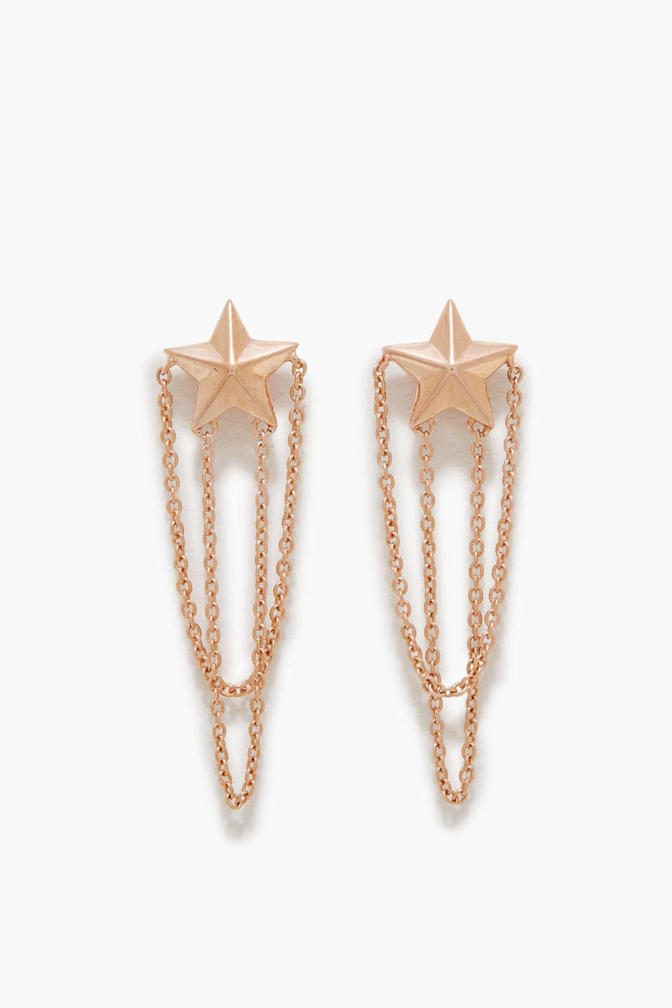 Esprit - Star-shaped stud earrings in sterling silver