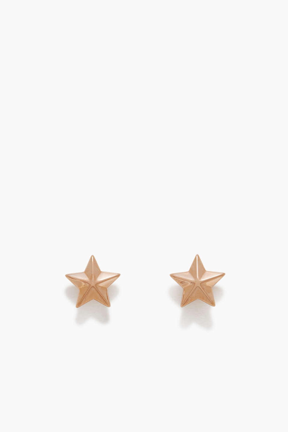Cool star shape meets trendy rose gold! These stud earrings made of sterling silver come in a fashionable design.