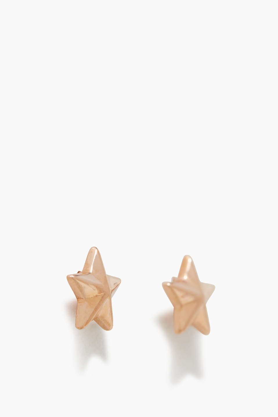 Star-shaped stud earrings in sterling silver