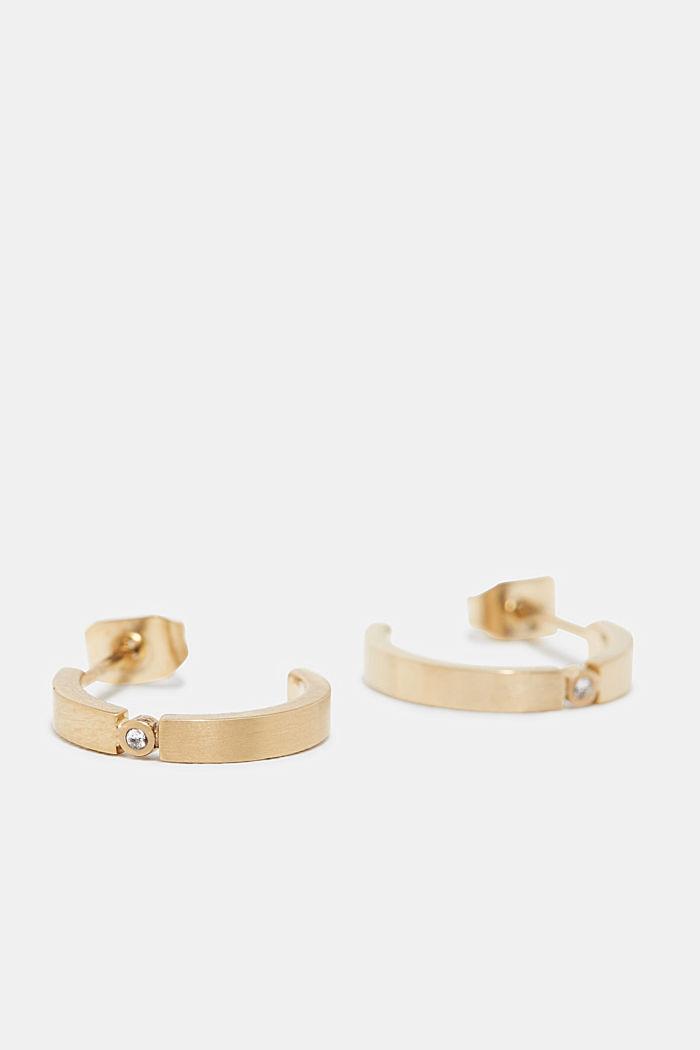 Earrings steel, GOLD, detail image number 0