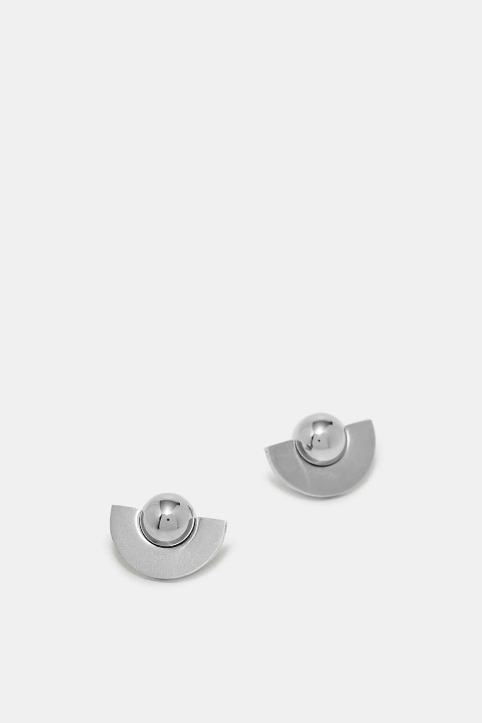 Esprit - Stud earrings with stainless steel beads