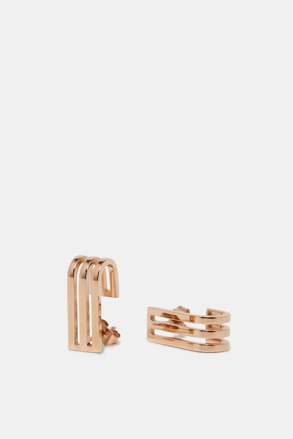 Esprit - Rose gold coloured stud earrings