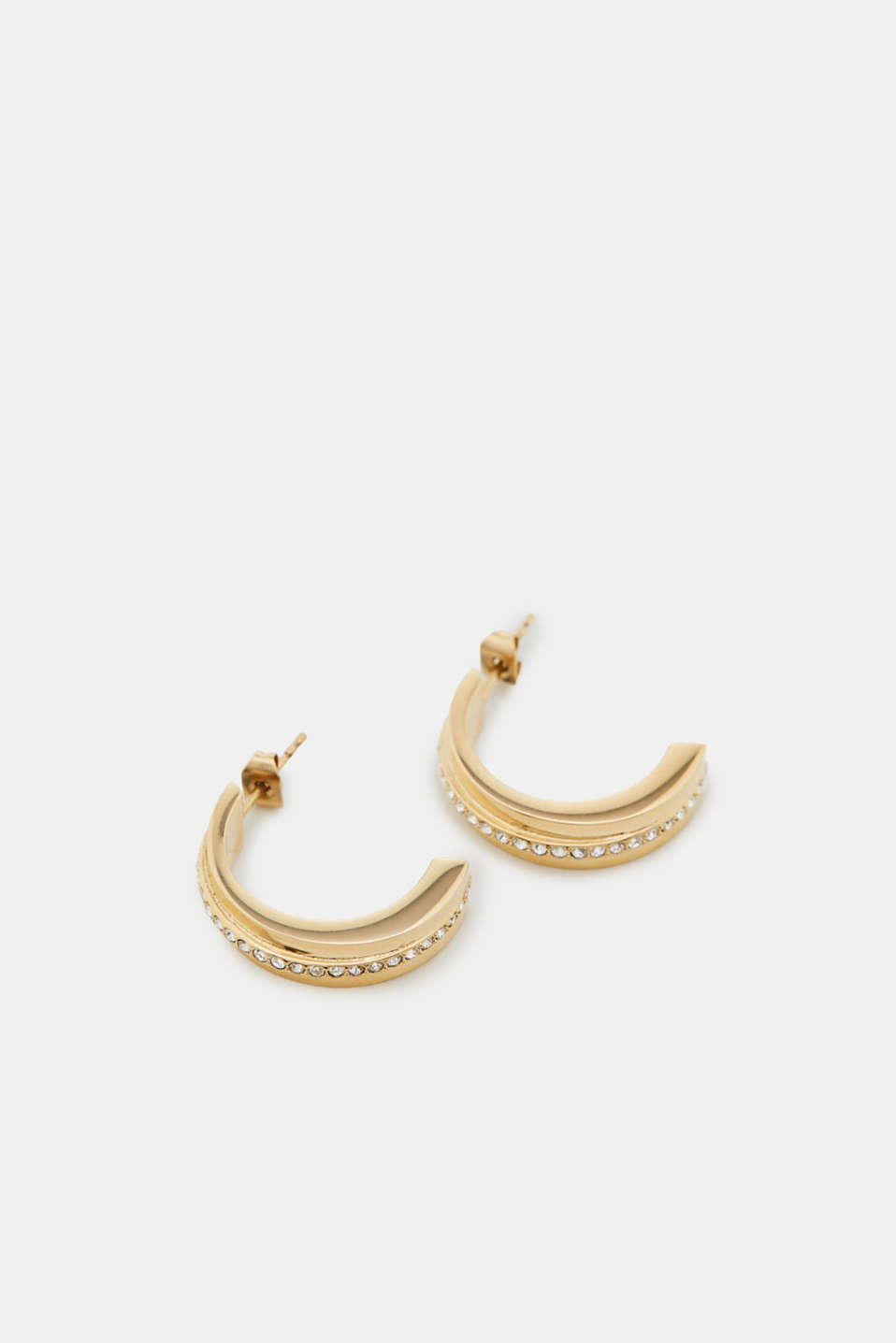 Esprit - Gold-coloured earrings + zirconia