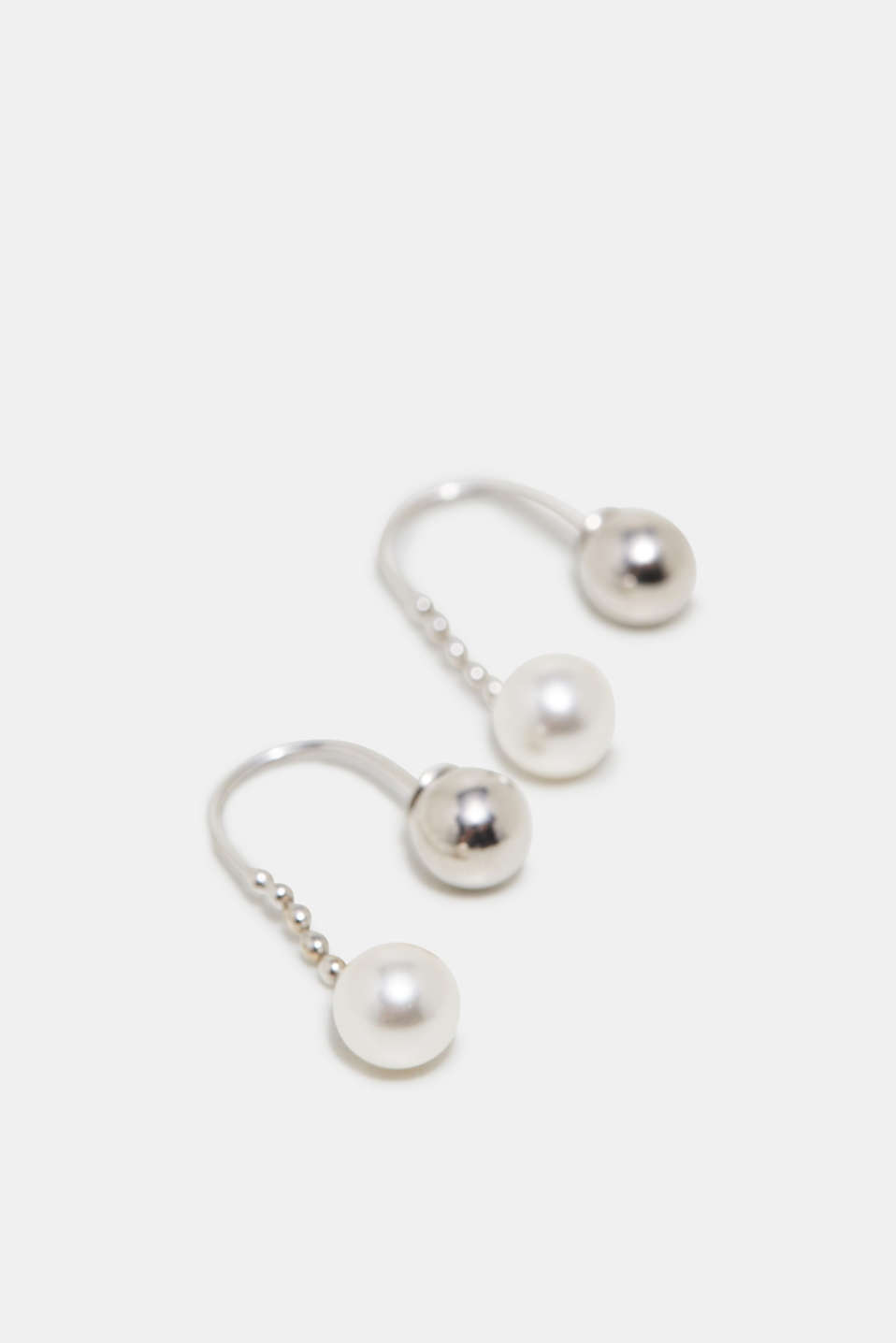 Earrings with beads, in sterling silver, one colour, detail image number 1
