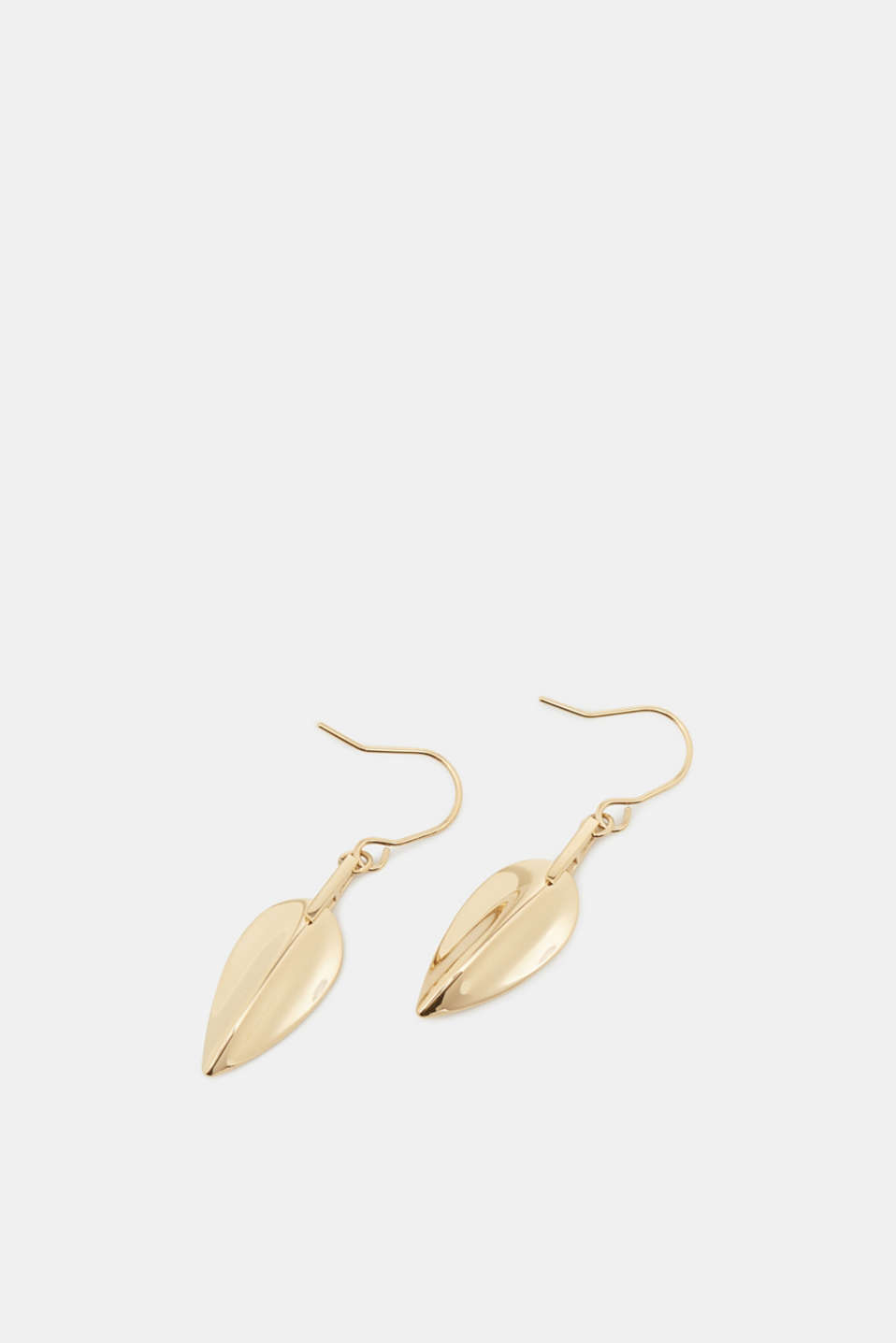 Esprit - Earrings with a leaf-shaped pendant