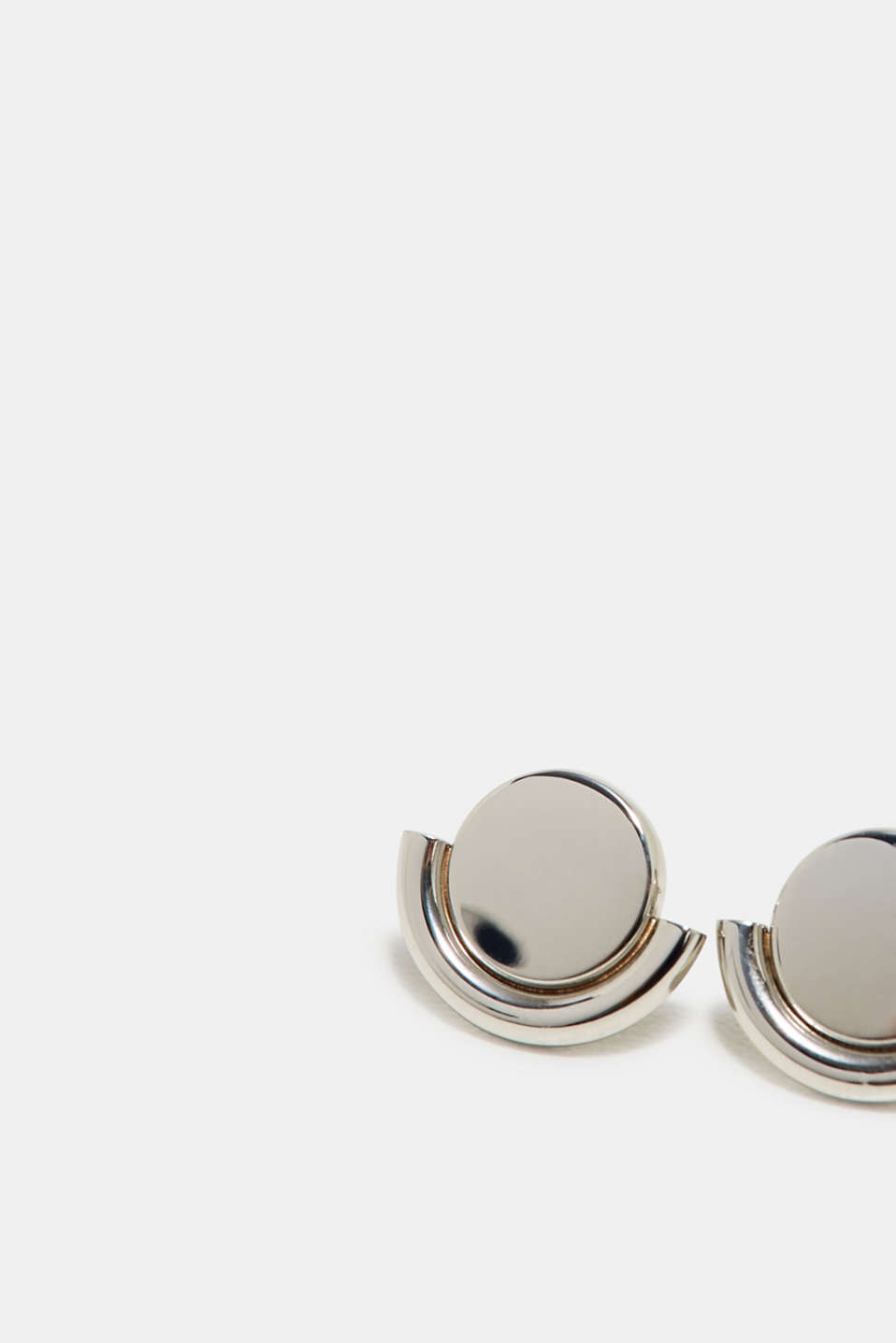 Stainless-steel stud earrings, one colour, detail image number 1