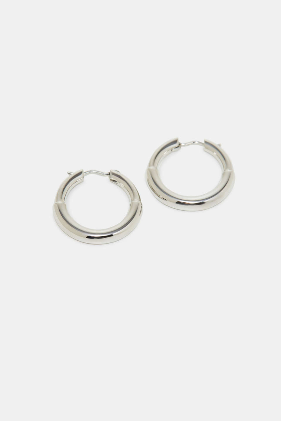 Stainless-steel hoop earrings, one colour, detail image number 0