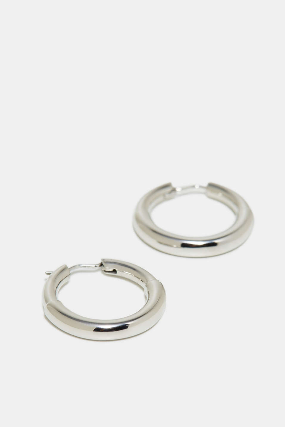 Stainless-steel hoop earrings, one colour, detail image number 1