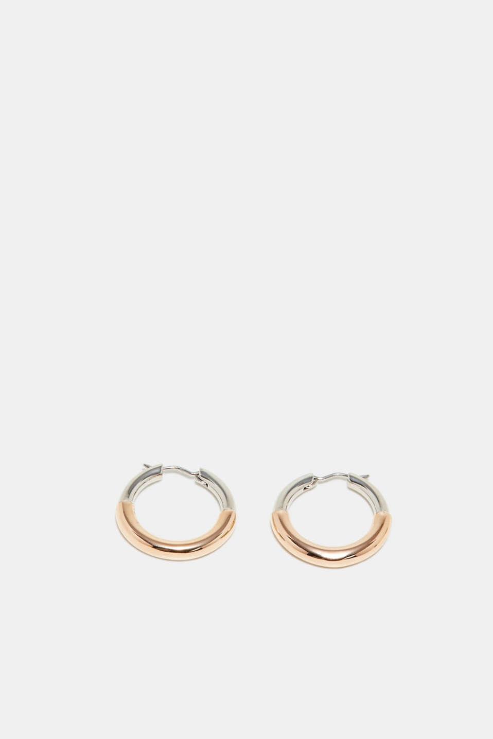 Stainless-steel hoop earrings, one colour, detail image number 0