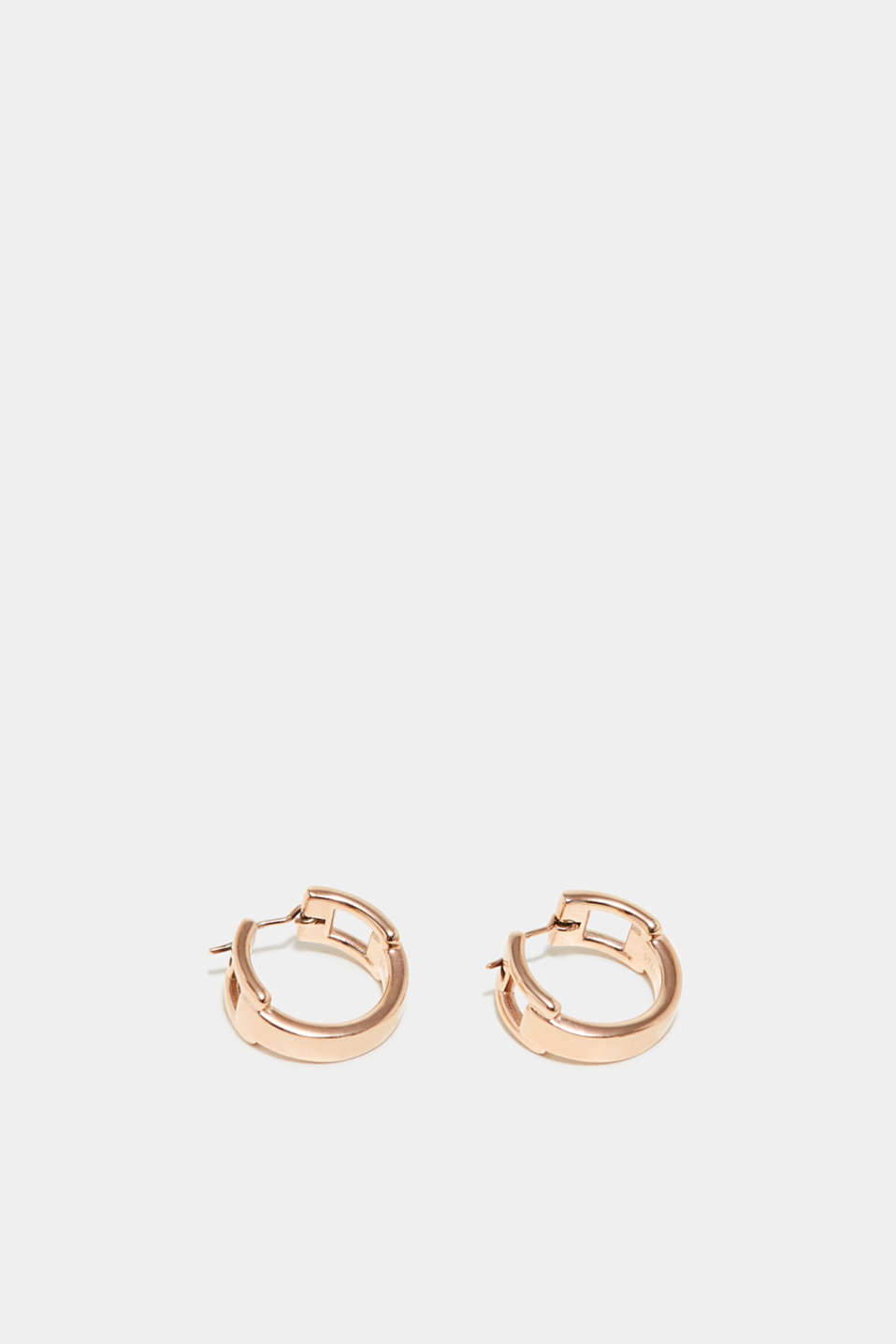 Esprit - Rose gold hoop earrings in stainless steel