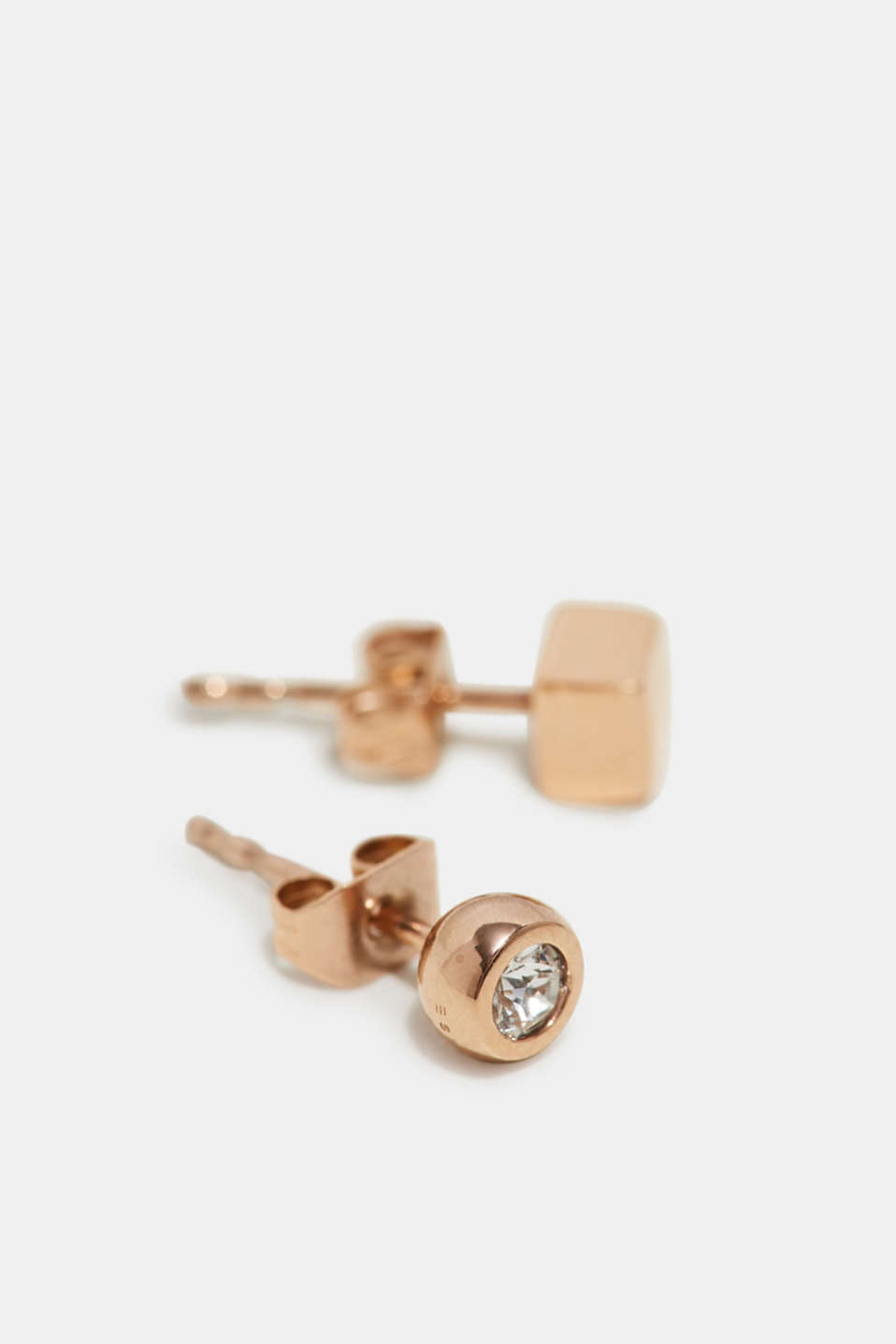 Esprit - Rose gold stud earrings, made of stainless steel