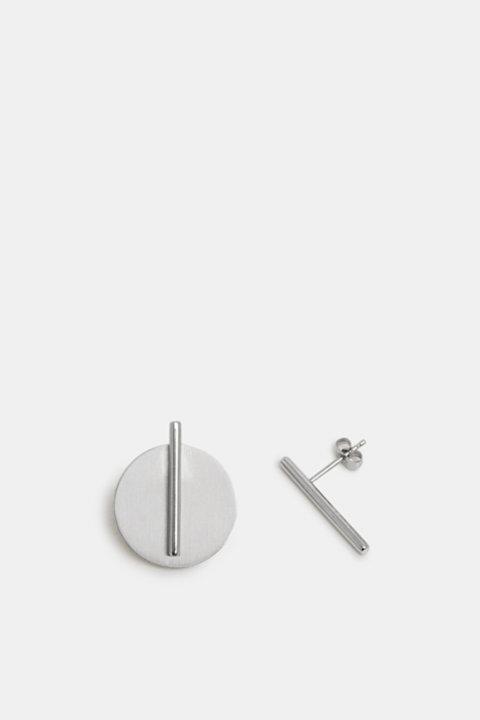 Two-in-one stainless steel stud earrings