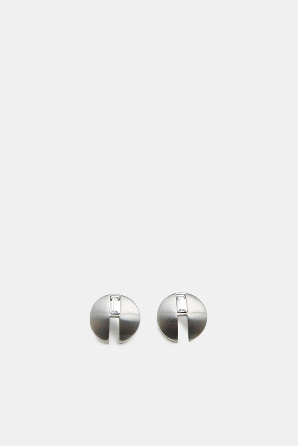 Earrings steel, SILVER, detail image number 0