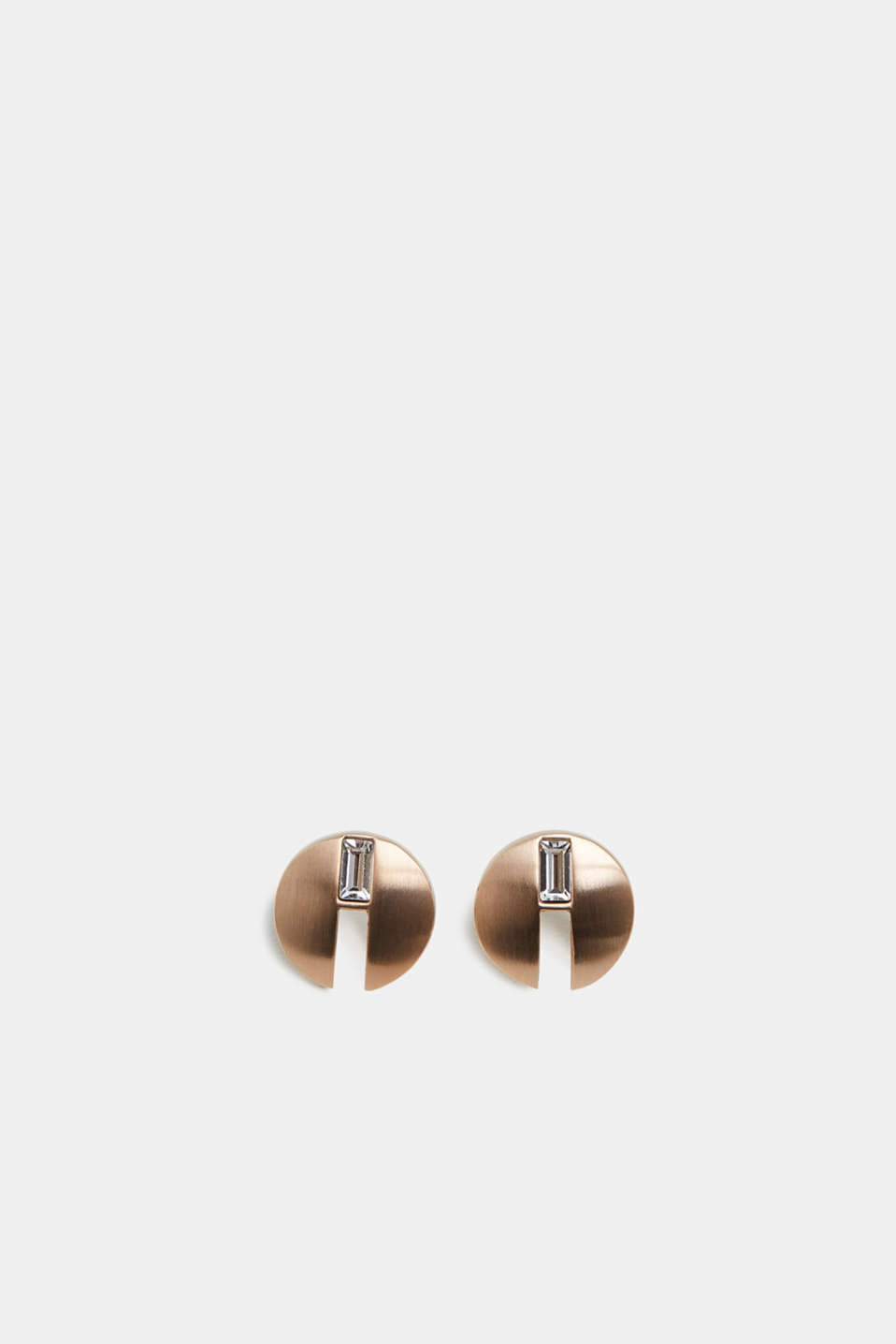 Esprit - Stainless steel stud earrings with baguette stones