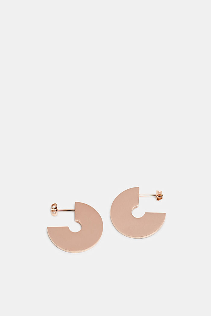 Stainless steel earrings, ROSEGOLD, detail image number 0