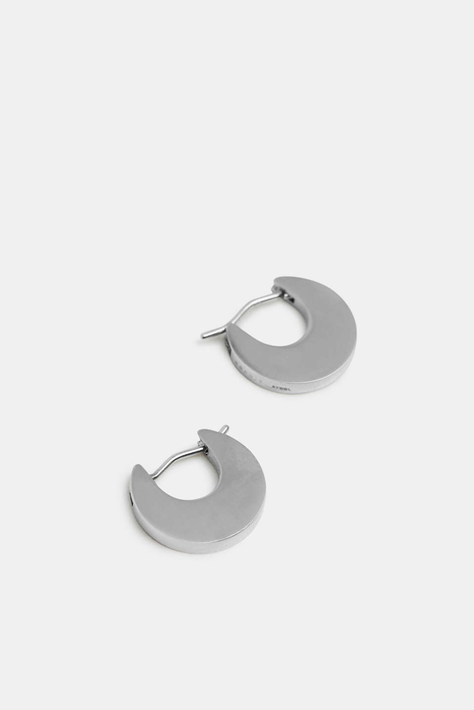 Stainless steel earrings, SILVER, detail image number 1
