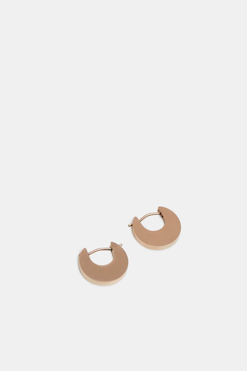 Stainless steel earrings, ROSEGOLD, detail image number 0