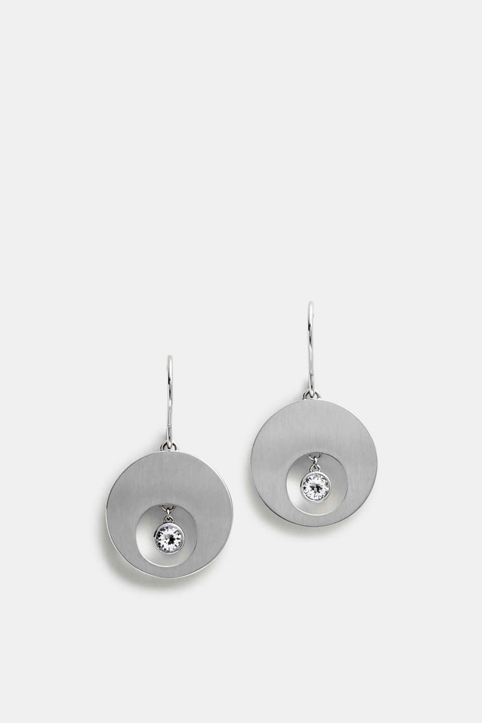 Esprit - Earrings with zirconia trim, made of stainless steel