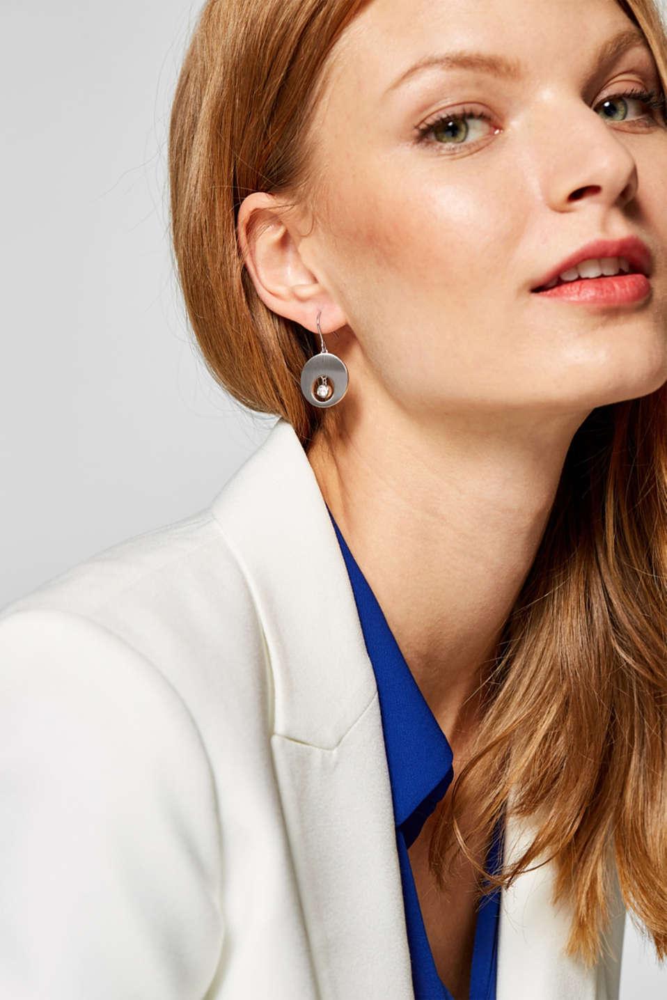 Earrings steel, SILVER, detail image number 2