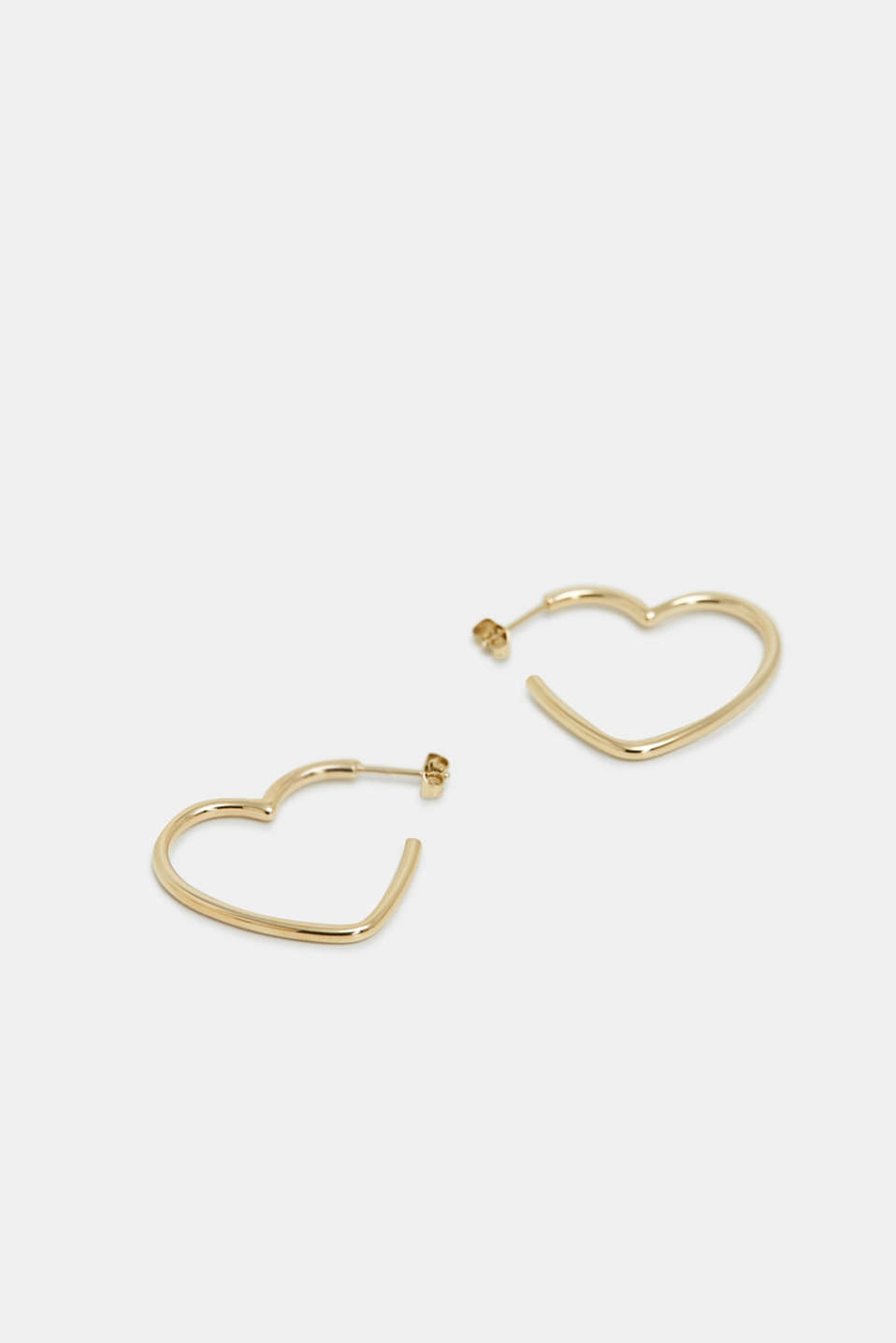 Heart-shaped earrings in stainless steel, GOLD, detail image number 0