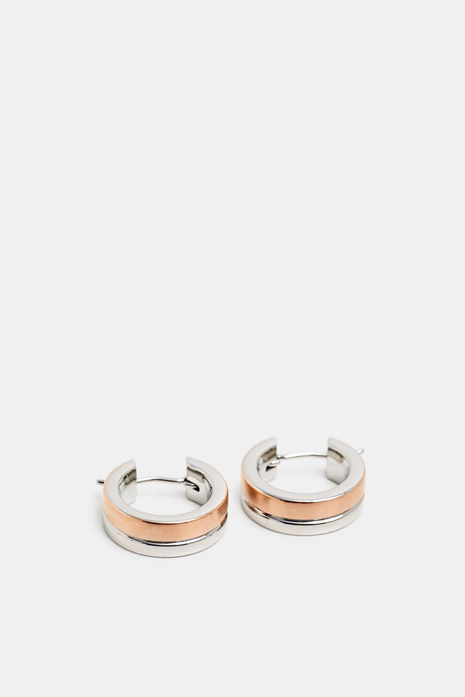 Esprit - Two-tone earrings made of stainless steel