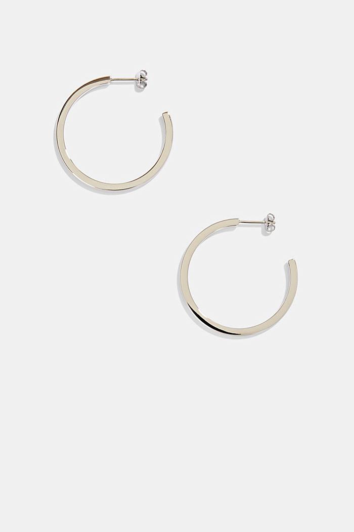 Stainless-steel hoop earrings
