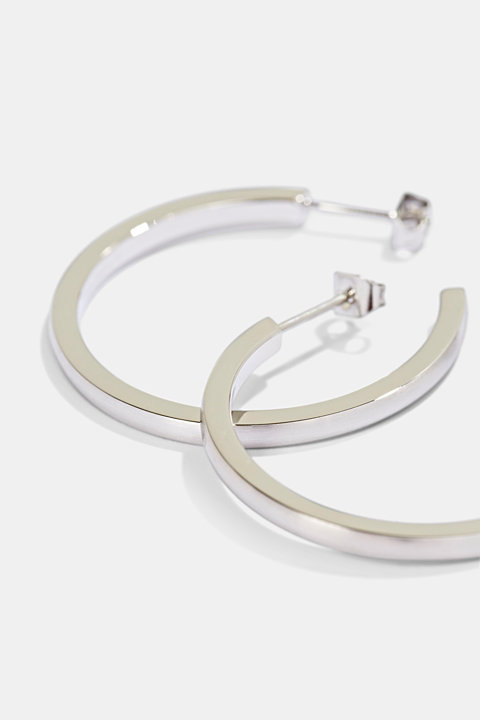 Stainless-steel hoop earrings