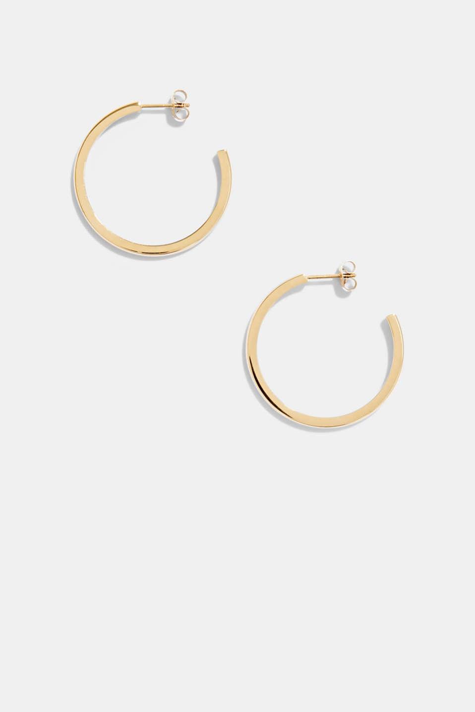 Stainless-steel hoop earrings, GOLD, detail image number 0