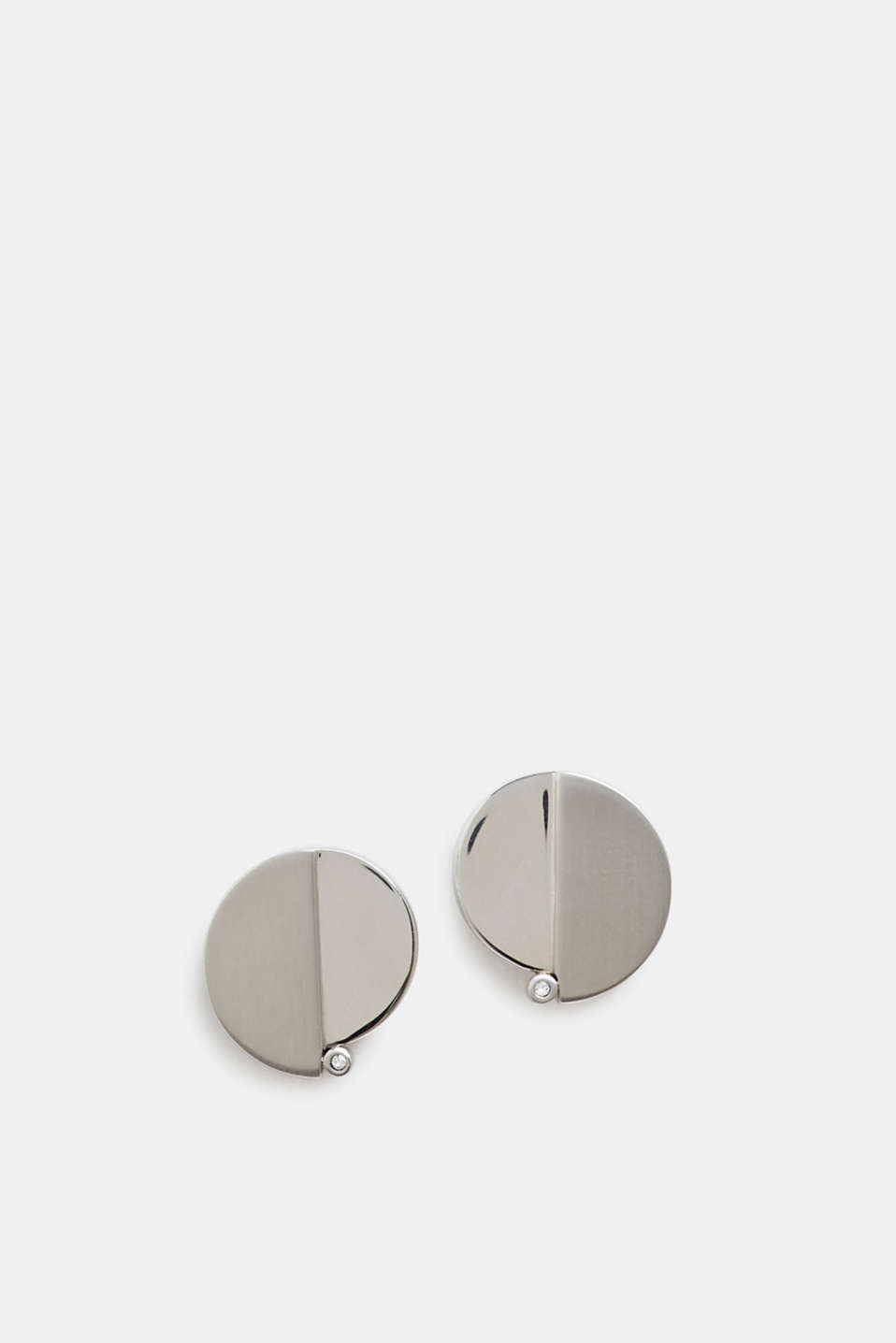Esprit - Stainless steel stud earrings with zirconia trim
