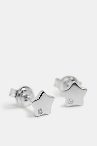Star-shaped stud earrings in sterling silver