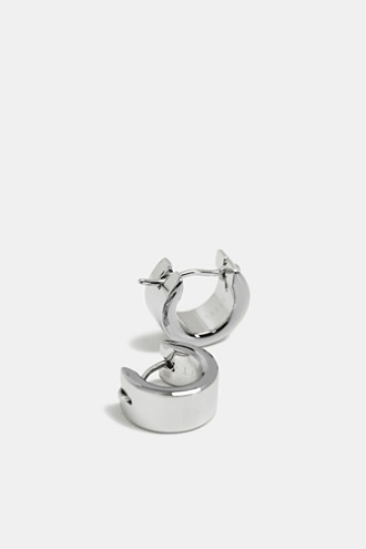 Zirconia-trim stainless-steel Creoles