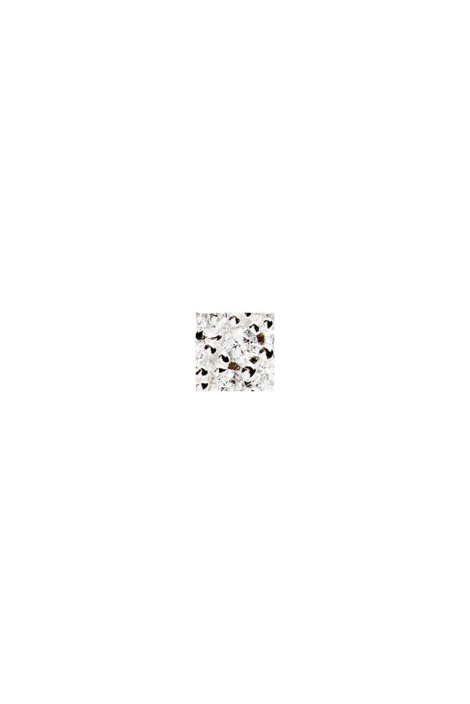 Stud earrings with zirconia, sterling silver, SILVER, swatch