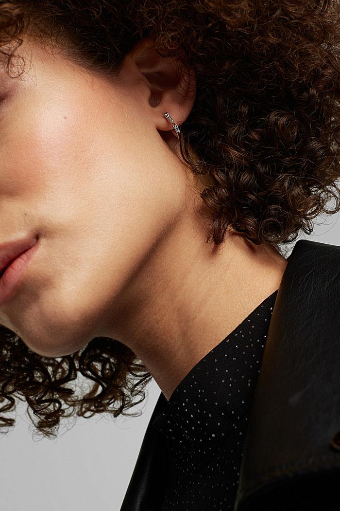Boucles d'oreilles en argent sterling et pierres de zircon colorées