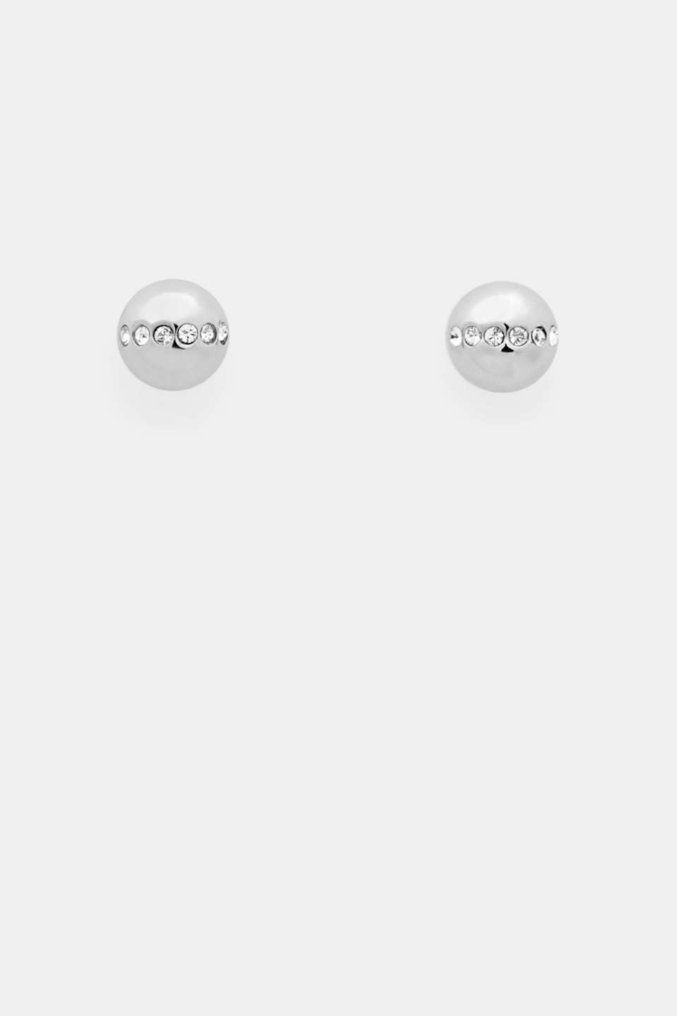 Esprit - Stainless-steel and zirconia stud earrings