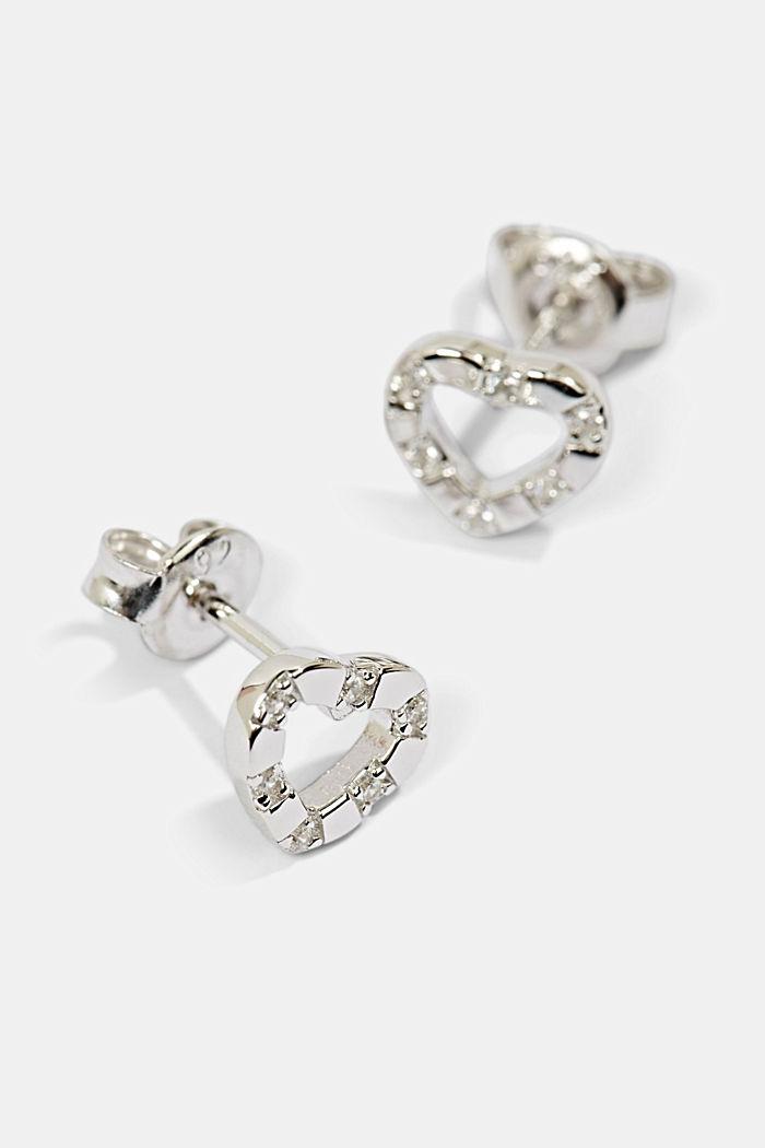 Herzförmige Ohrstecker aus Sterling Silber