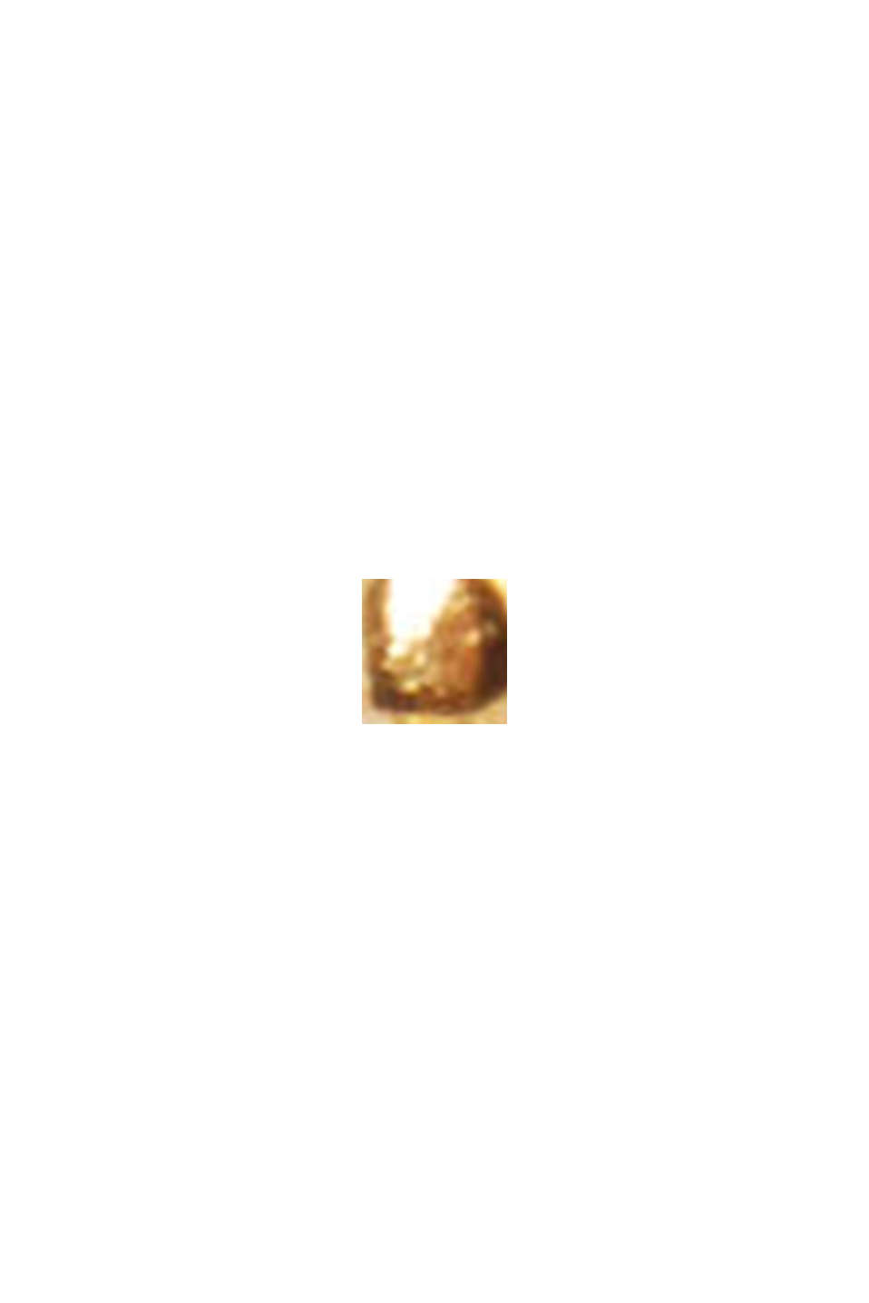 Delicate heart-shaped stud earrings, sterling silver, GOLD, swatch