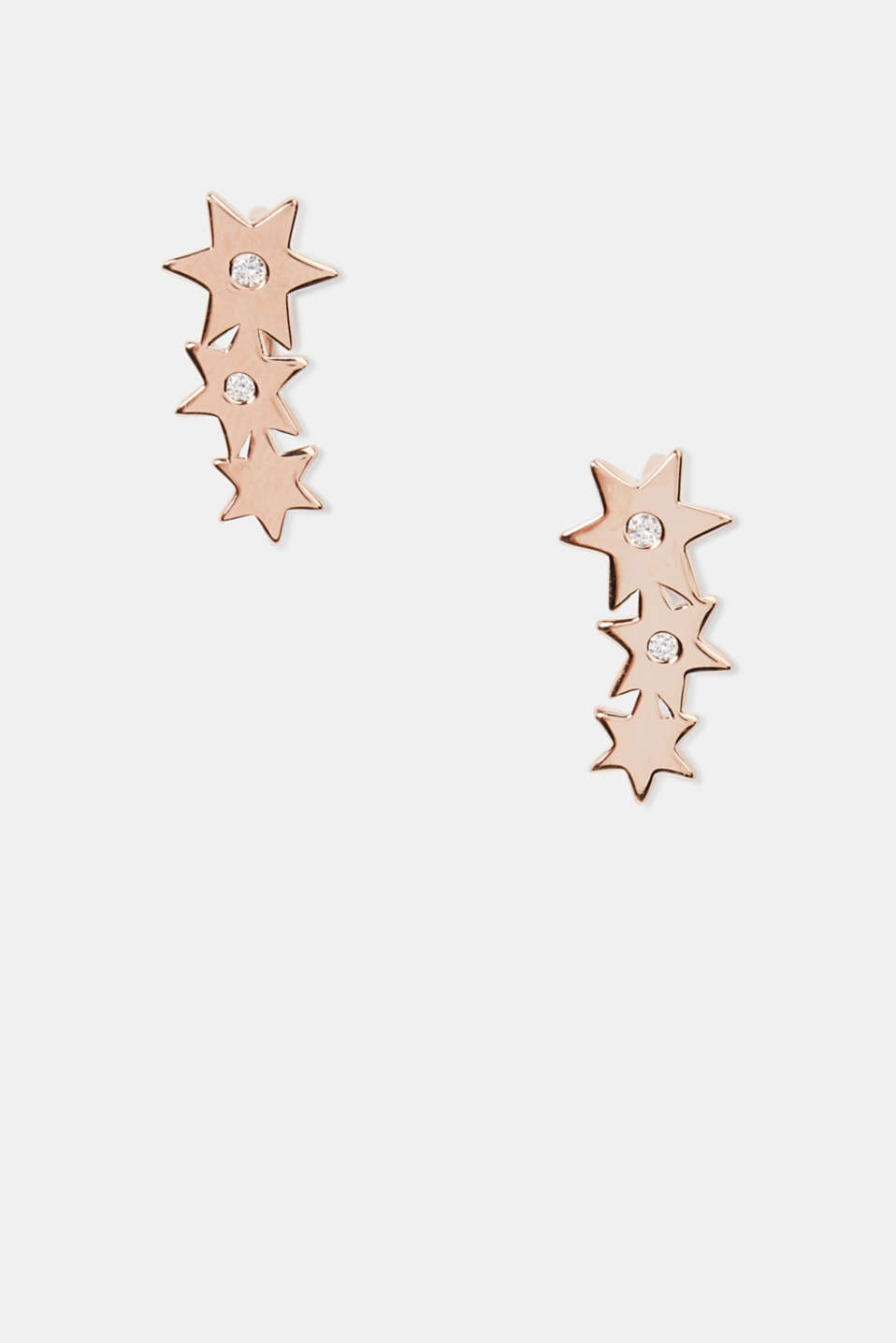 Esprit - Stud earrings with zirconia, sterling silver