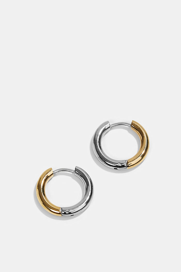 Two-tone Creoles made of stainless steel