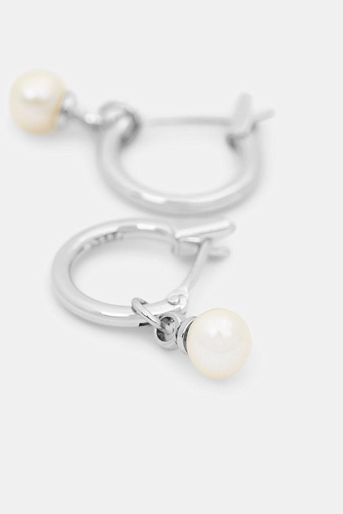 Mini-Creolen mit Perlen-Anhänger