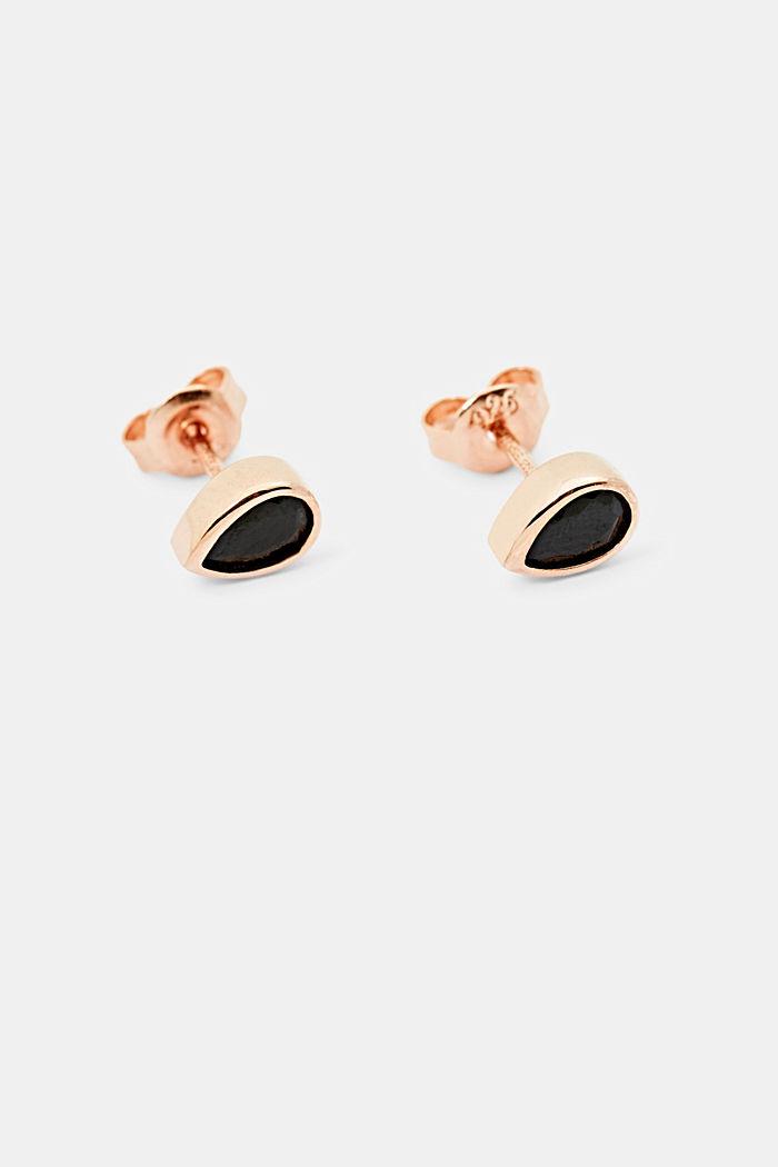 Clous d'oreilles argent sterling et zircon