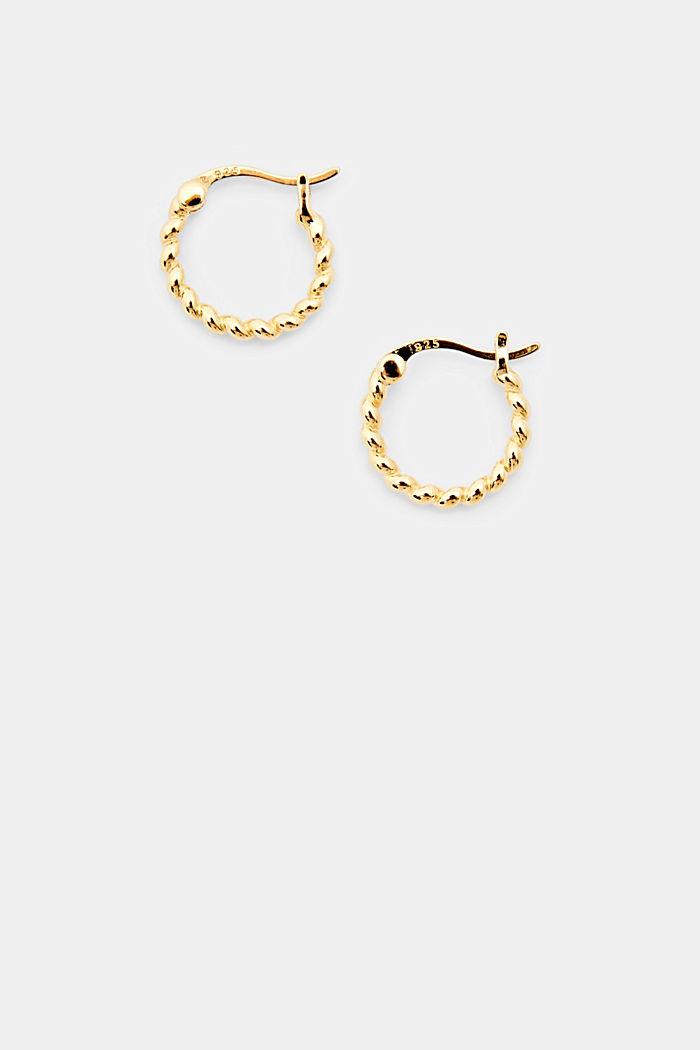 Mini hoop earrings in sterling silver