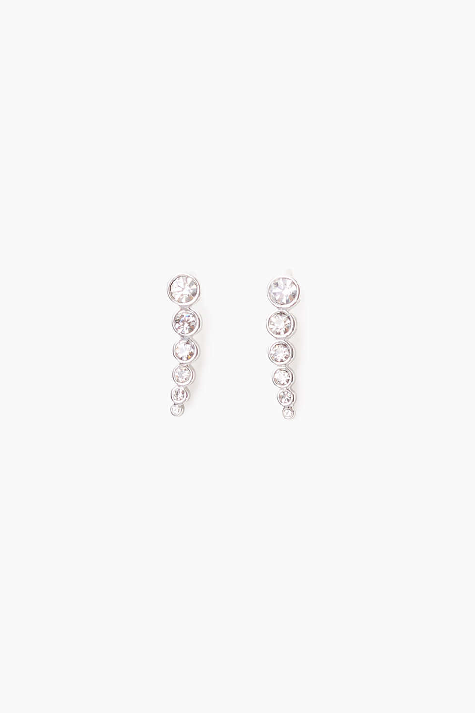 Esprit - Metal ear climbers with zirconia