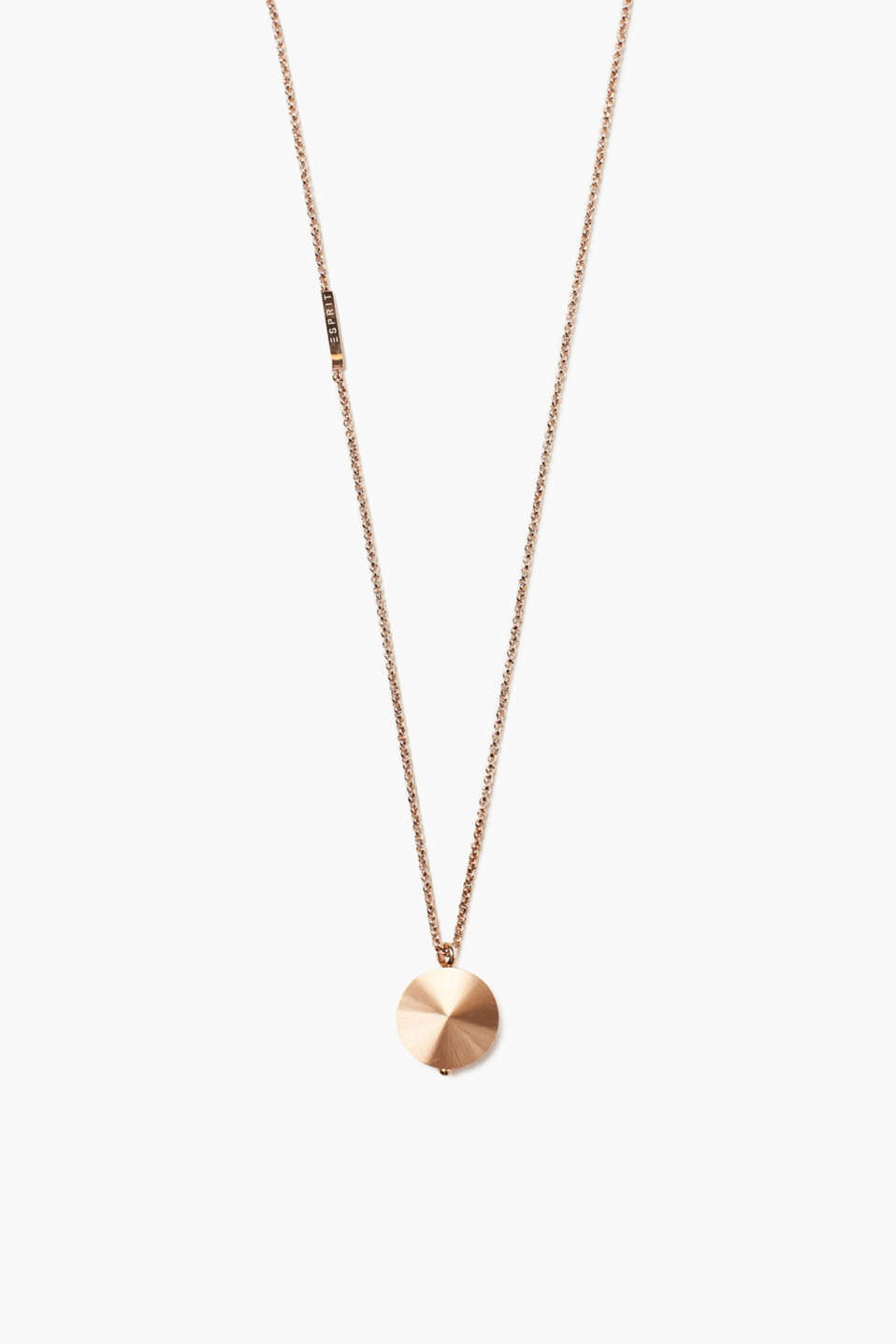 Esprit - Stainless steel necklace + satined pendant