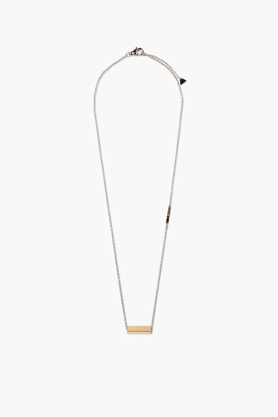 Fine stainless steel necklace with pendant