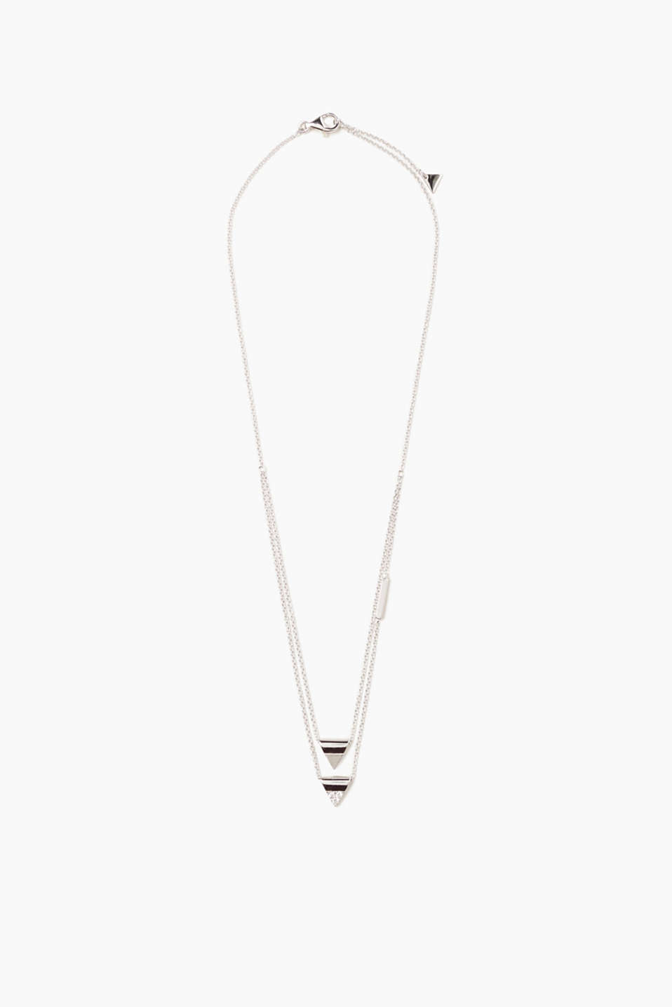 Esprit - Fine sterling silver necklace with pendants