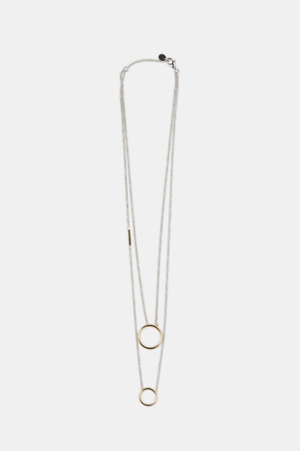 Esprit - Double-stranded necklace + ring pendants