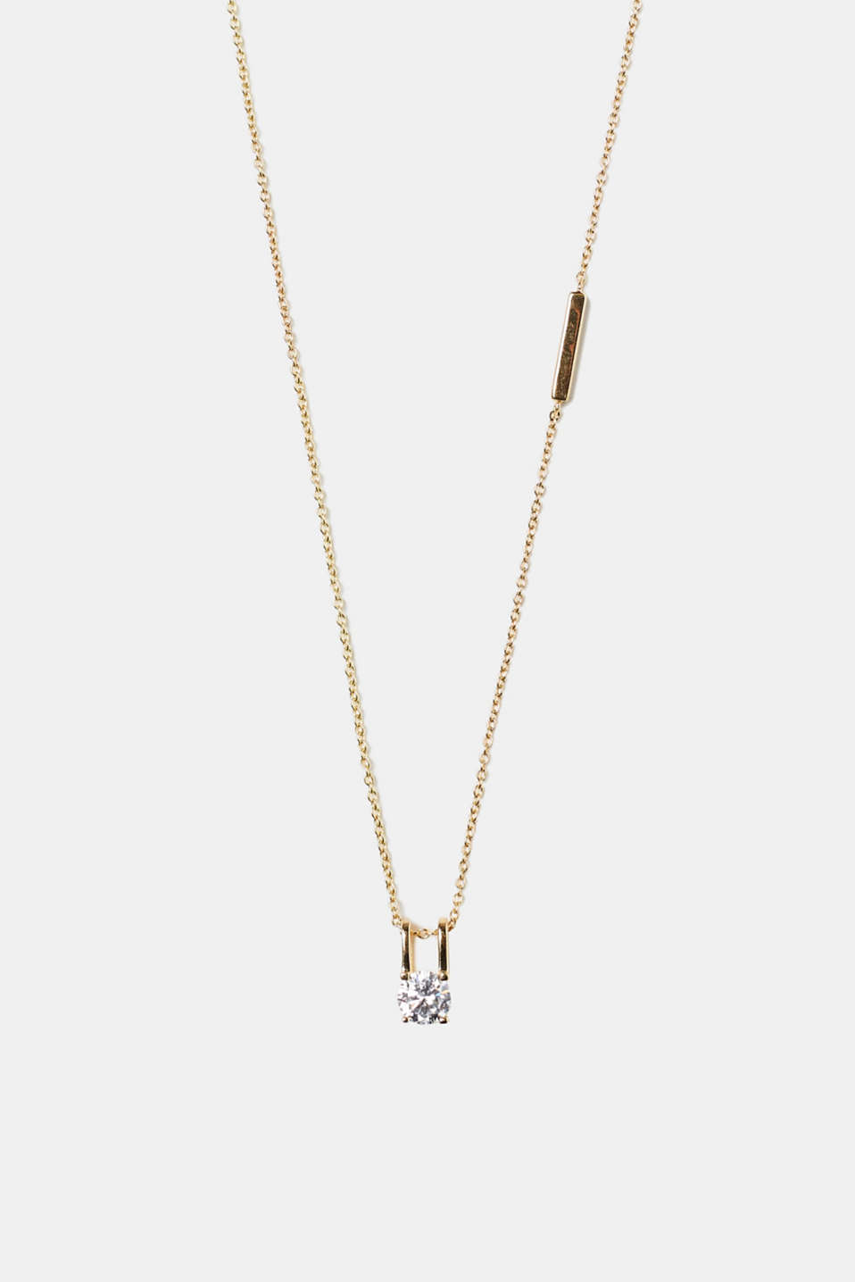 Esprit - Elegant yellow gold-plated necklace