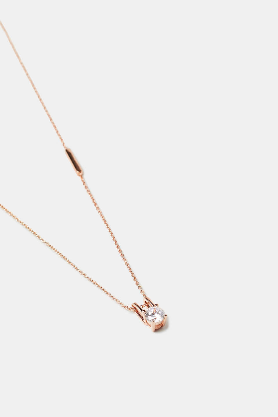 Fine necklace with pendant in rose gold